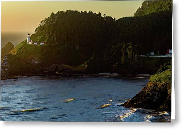 Greeting Card featuring the photograph Heceta Head Lighthouse by John Hight