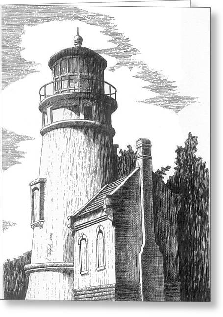 Heceta Head Lighthouse Greeting Card by Lawrence Tripoli