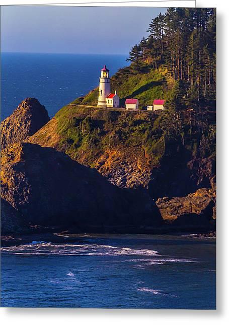 Heceta Head Oregon Lighthouse Greeting Card