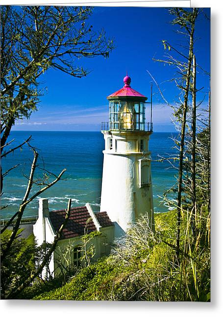 Heceta Lighthouse I Greeting Card