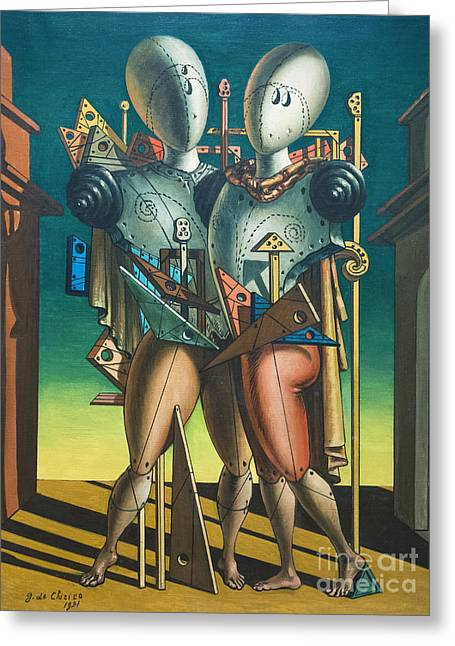 Hector And Andromache By Giorgio De Chirico Greeting Card by Roberto Morgenthaler