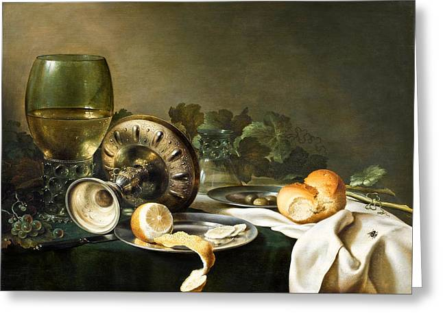 Heda - Still-life Greeting Card by Mountain Dreams