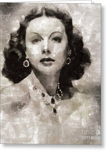 Hedy Lamarr, Actress Greeting Card