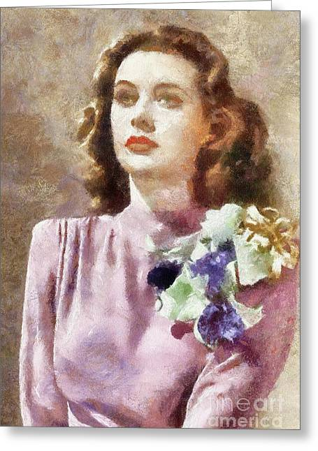 Hedy Lamarr By Sarah Kirk Greeting Card