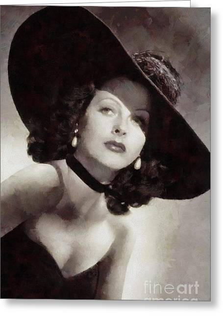 Hedy Lamarr, Vintage Actress Greeting Card