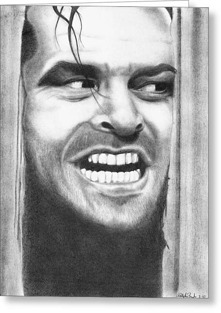 Heeeres Johnny Greeting Card by Christopher Brooks