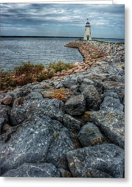 Hefner Lighthouse  Greeting Card by Buck Buchanan
