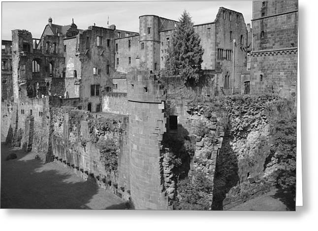 Greeting Card featuring the photograph Heidelberg Castle Behind The Scenes by Corinne Rhode