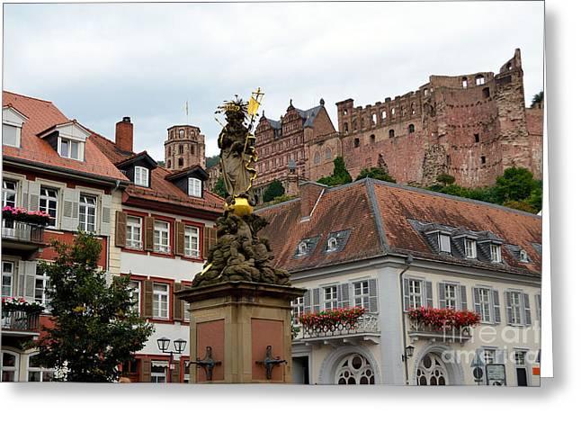 Heidelberg, Germany Greeting Card by Elzbieta Fazel