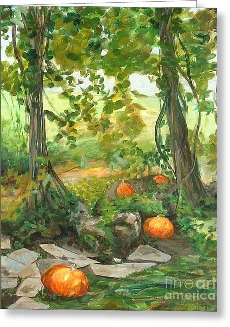 Heidi's Pumpkins Greeting Card