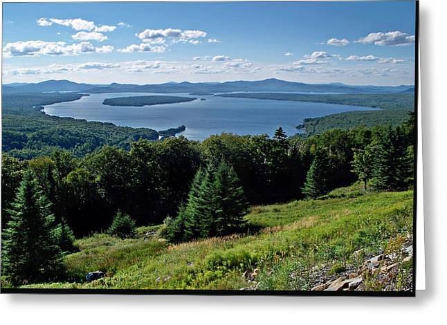 Height Of The Land Overlooking Mooselookmeguntic Lake Greeting Card