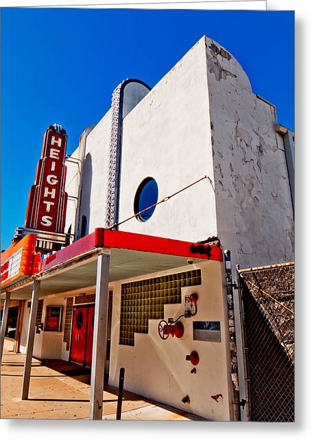 Heights Movie Theater Greeting Card