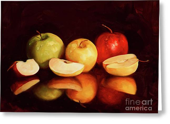 Hein Apples Greeting Card by Laurie Hein