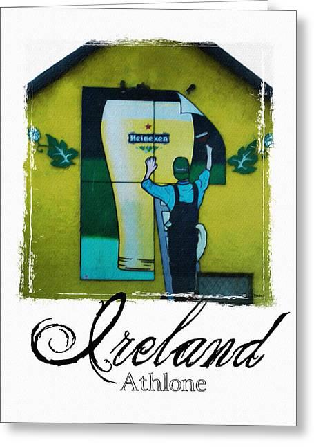 Heineken Athlone Ireland Greeting Card by Teresa Mucha