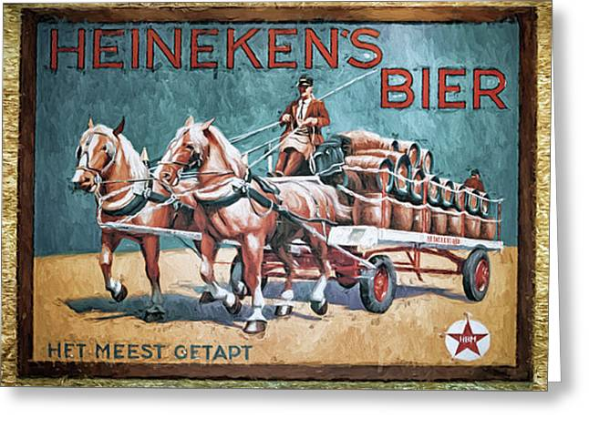 Heineken's Beer The Most Tapped Greeting Card by Joan Carroll