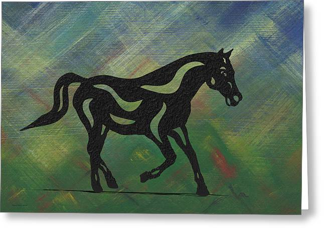 Heinrich - Abstract Horse Greeting Card