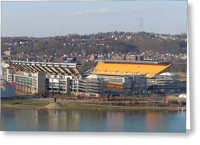 Heinz Field Greeting Card by James Guentner