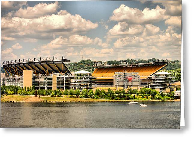 Heinz Field Greeting Cards - Heinz HDR Greeting Card by Arthur Herold Jr