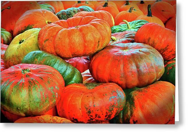 Heirloom Pumpkins Greeting Card