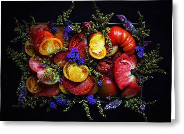 Heirloom Tomato Platter Greeting Card