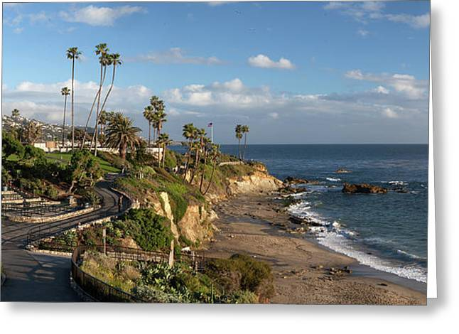 Greeting Card featuring the photograph Heisler Park Panoramic by Cliff Wassmann