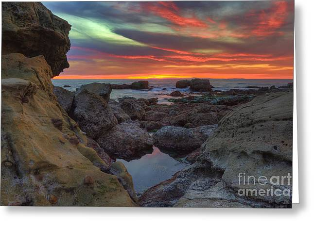 Greeting Card featuring the photograph Heisler Park Tide Pools by Eddie Yerkish