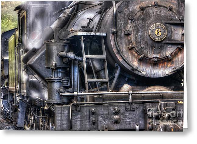 Heisler Steam Engine Greeting Card by Jerry Fornarotto