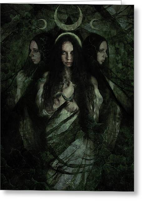 Hekate Greeting Card by Cambion Art