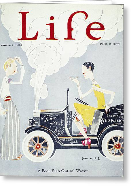 Held: Poor Fish Cover. 1926. A Poor Fish Out Of Water. Cover For Life, 1926, By John Held, Jr Greeting Card by Granger