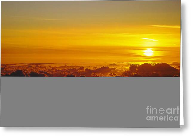 Heleakala Sunrise Greeting Card by Stan and Anne Foster