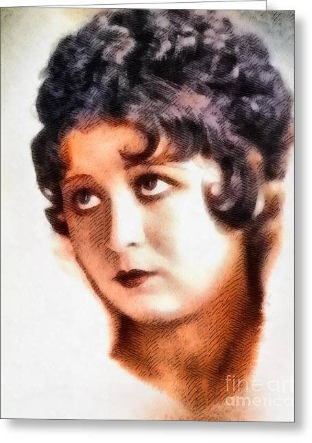 Helen Kane, Betty Boop, Vintage Hollywood Legend Greeting Card by John Springfield