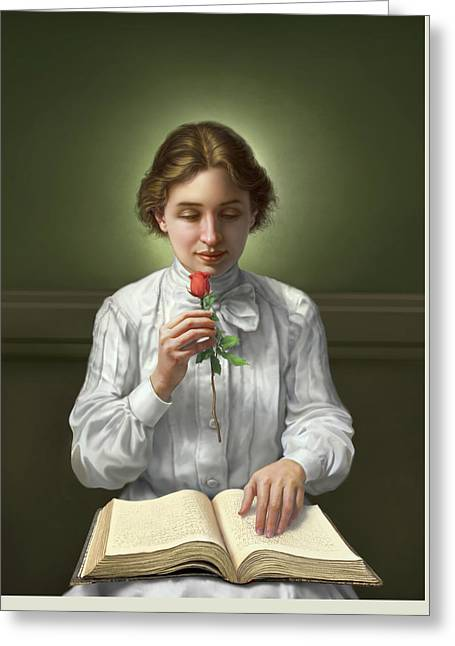 Helen Keller Greeting Card by Mark Fredrickson