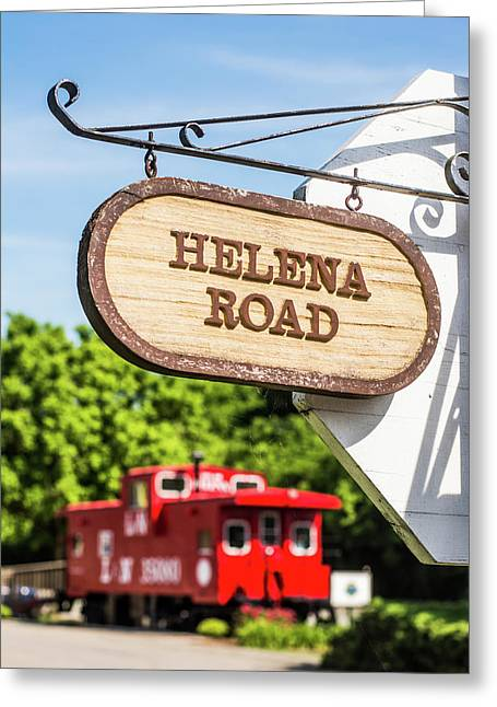 Helena Road Sign Greeting Card by Parker Cunningham