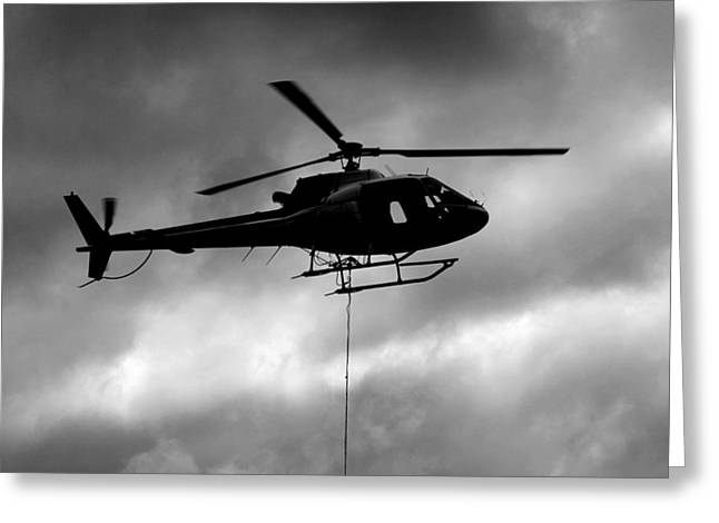 Helicopter In Sling Operations Greeting Card by Wyatt Rivard