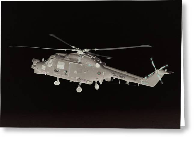 Helicopter Greeting Card by James Hill