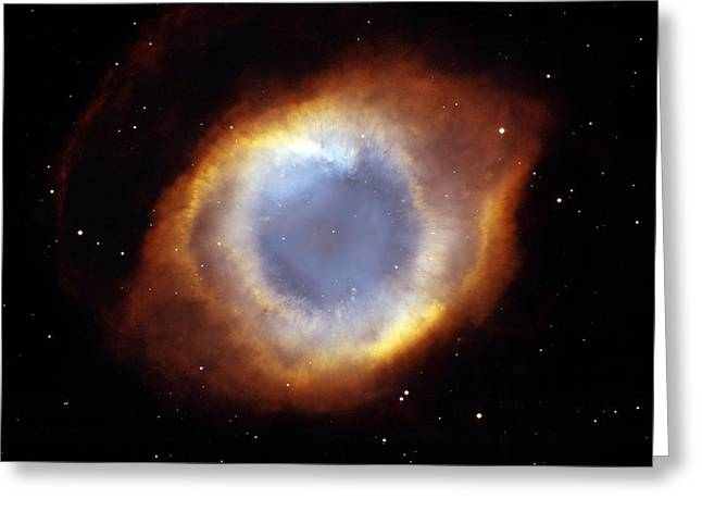 Helix Nebula, Hst Image Greeting Card by Nasaesastscit.rector, Nrao