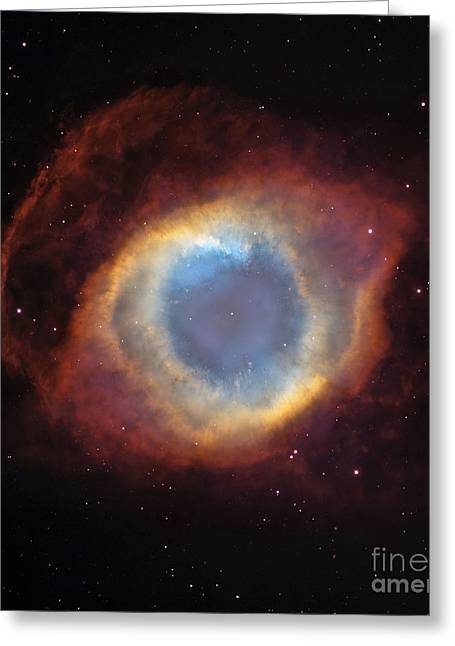 Helix Nebula Greeting Card by Stocktrek Images