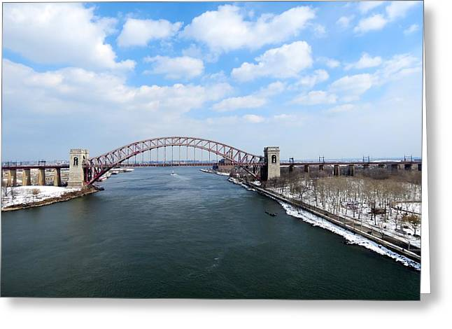 Hell Gate Bridge  Greeting Card by Kenneth Summers