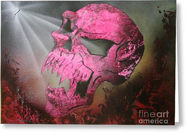 Hell Greeting Card by Tbone Oliver