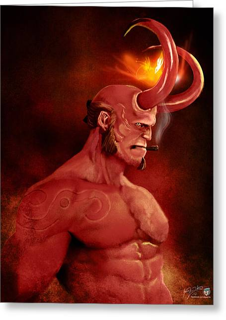 Hellboy Greeting Card by Jason Longstreet