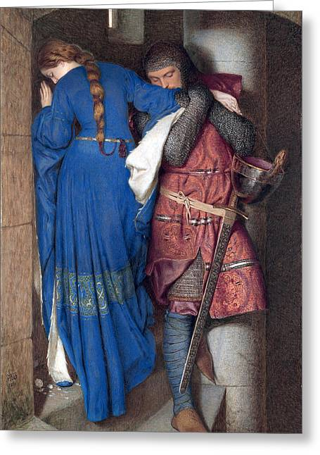 Hellelil And Hildebrand Or The Meeting On The Turret Stairs Greeting Card