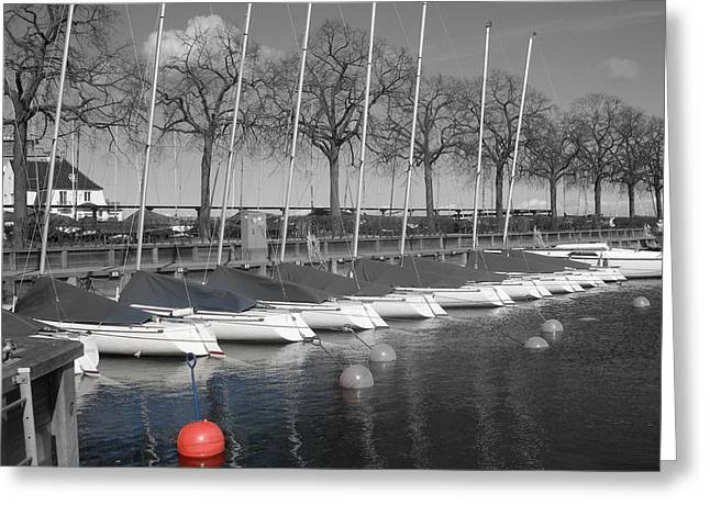 Greeting Card featuring the photograph Hellerup Marina by Michael Canning