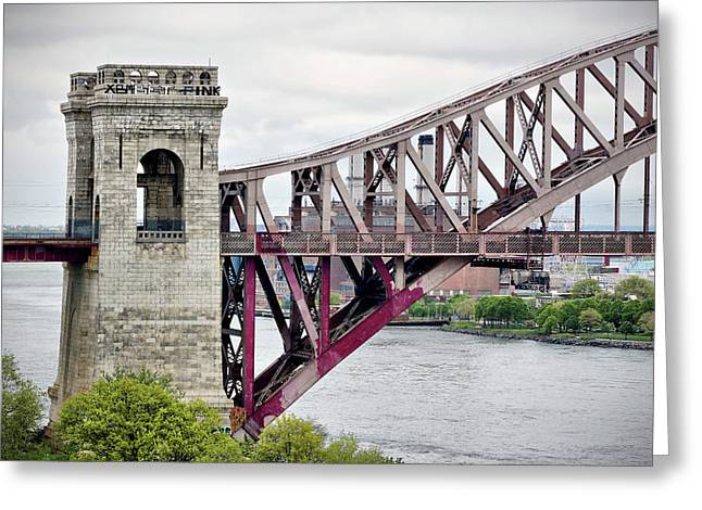 Hellgate In Grey Greeting Card