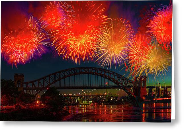 Greeting Card featuring the photograph Hellgate Independence Celebration by Chris Lord