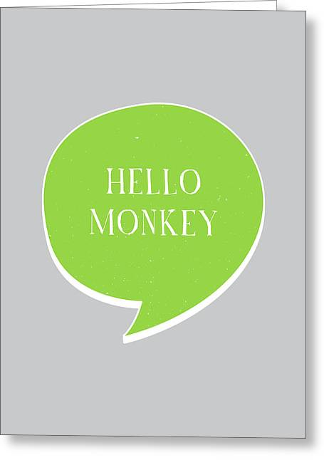 Hello Monkey Greeting Card