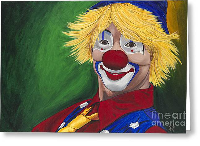 Hello Clown Greeting Card by Patty Vicknair