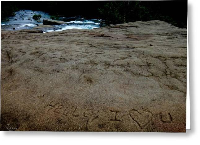 Hello I Heart U Greeting Card