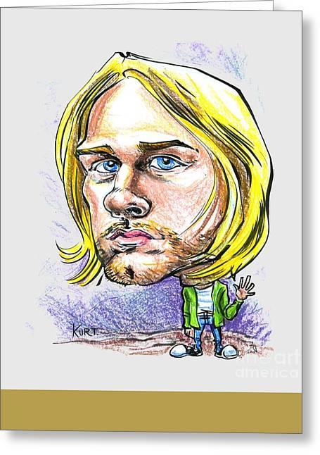 Greeting Card featuring the drawing Hello Kurt by John Ashton Golden