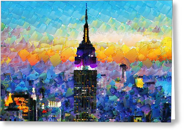 Hello New York Greeting Card by Sir Josef - Social Critic -  Maha Art