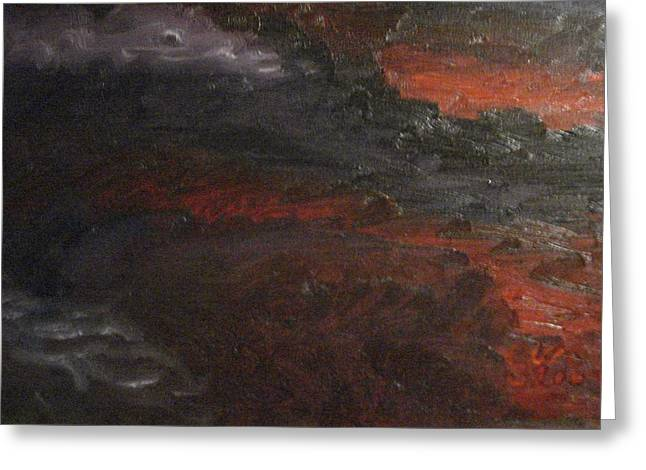 Hell's Fury Greeting Card by Gloria Condon